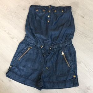 Cache denim romper